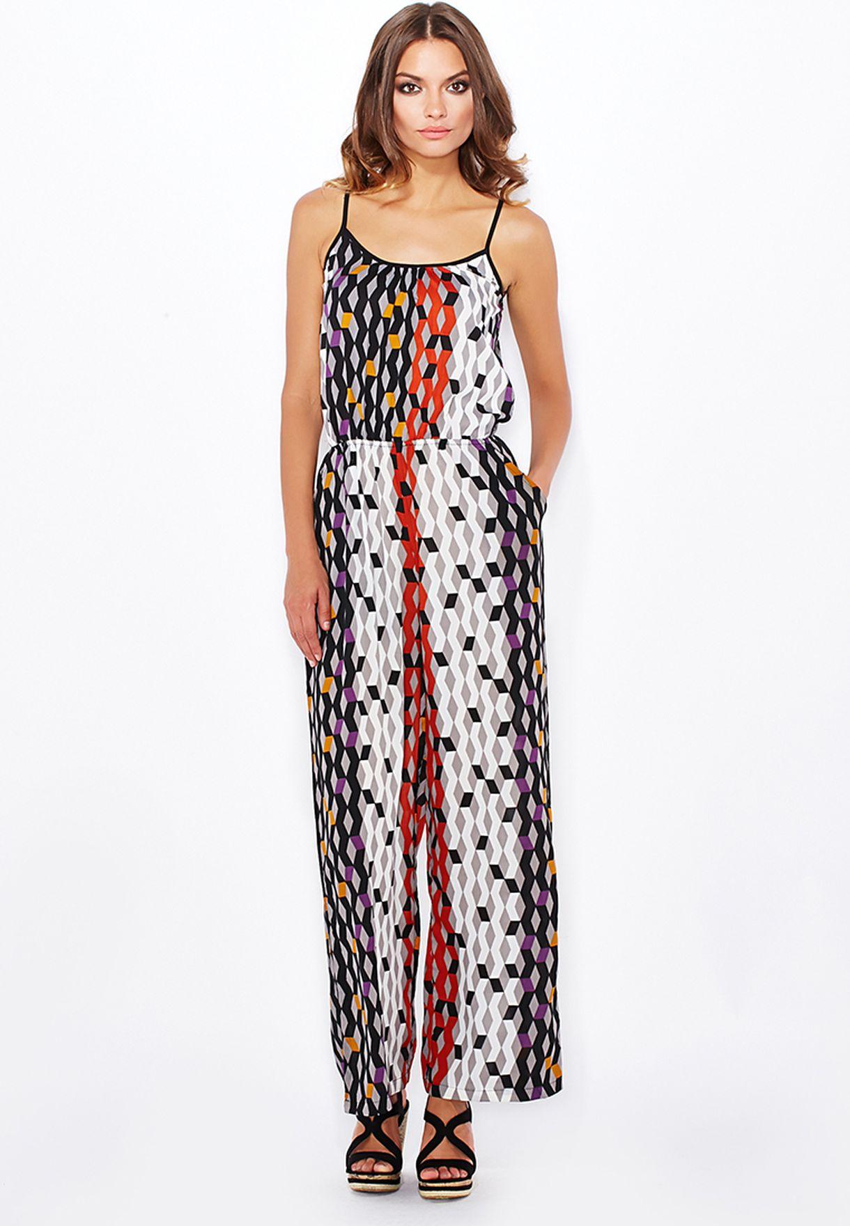 849f070da70 Shop Boohoo prints Geo Print Jumpsuit AZZ22058 for Women in Bahrain -  BO797AT73CXU