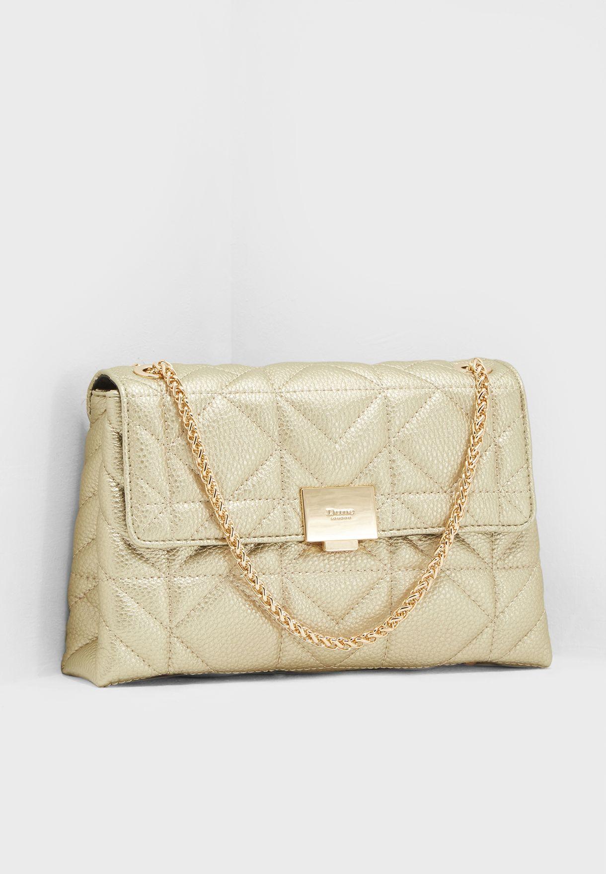 Shop Dune London gold Evangelina Quilted Crossbody 0009500110246398 for  Women in Saudi - DU320AC73UZI 95b3cf4cd7a59