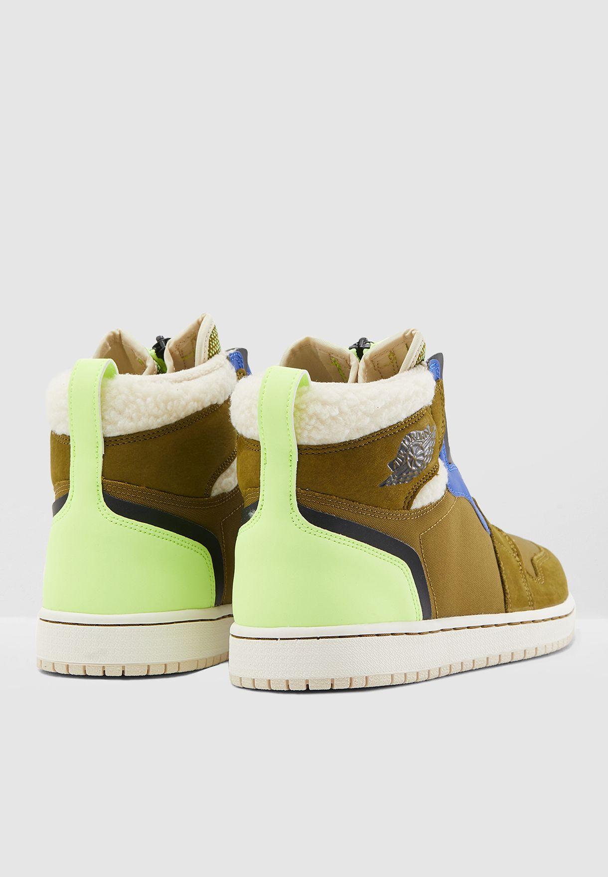 Shop Nike green Air Jordan 1 High Zip Up AV3723-300 for Women in ... 21e8831d8