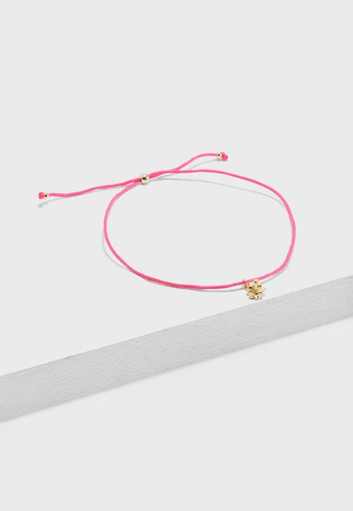 Tropical Flower Friendship Bracelet
