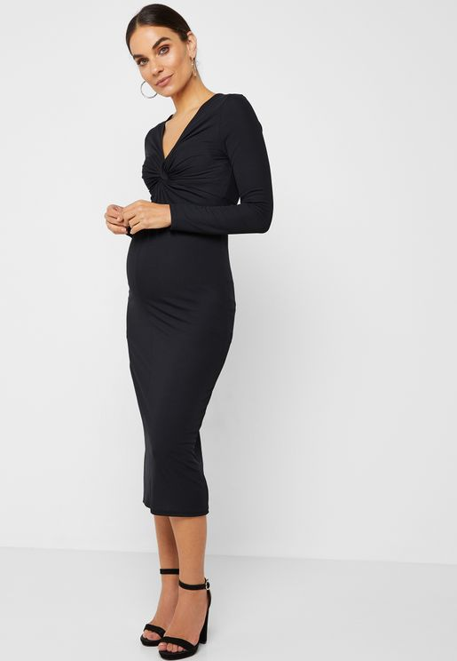 Front Twisted Bodycon Dress