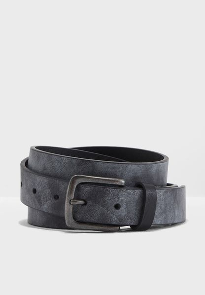 Coated Leather Look Belt