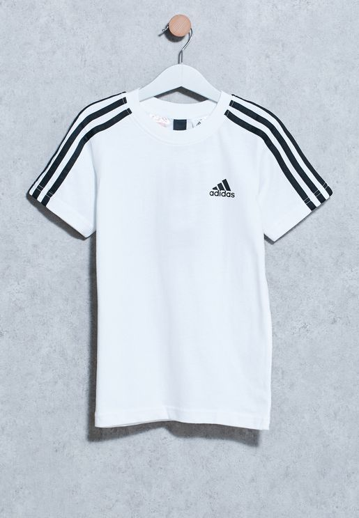 Youth 3 Stripe Logo T-Shirt