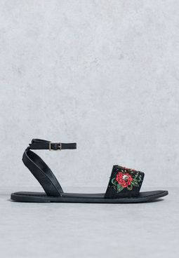 Embellished Band Sandals