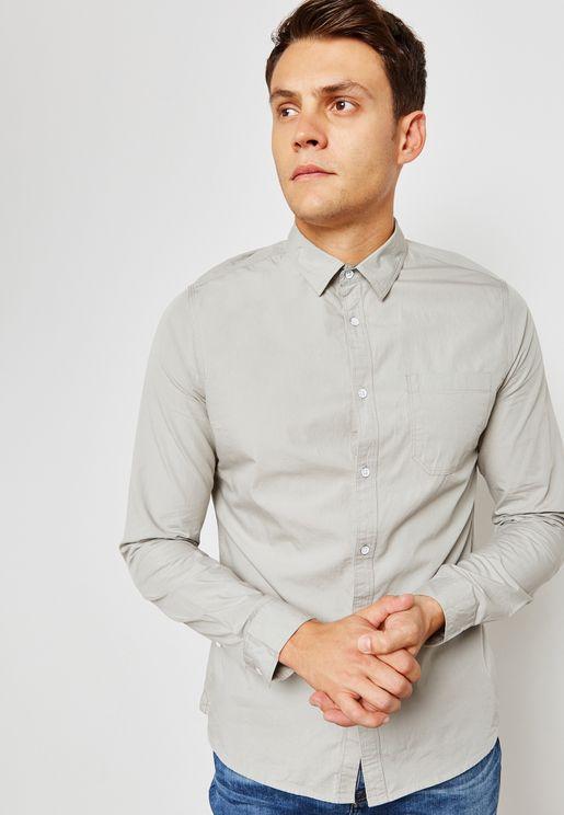 Poplin Roll Sleeve Shirt