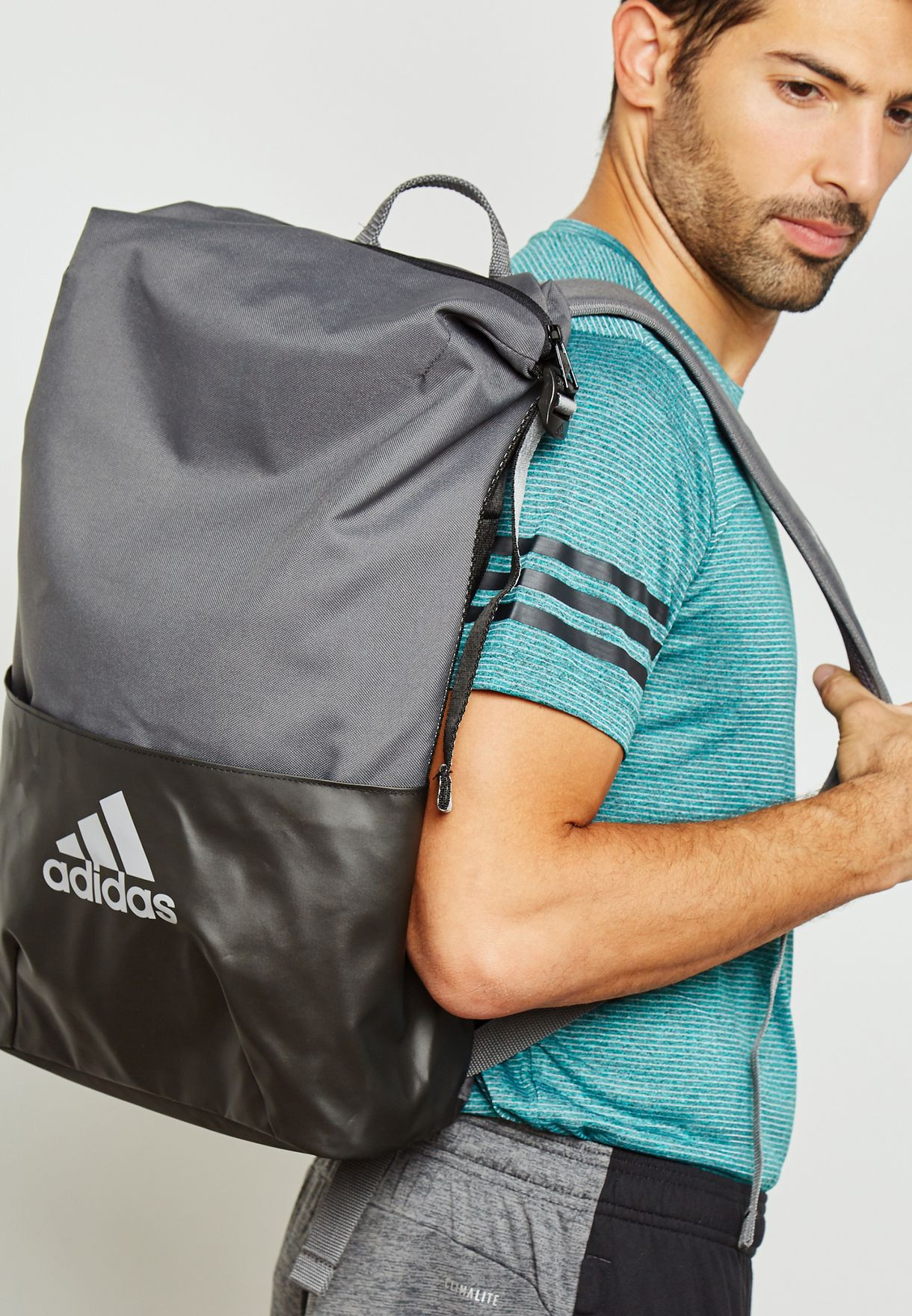 03cc5f8fd5c9 Shop adidas grey Z.N.E Core Backpack CY6069 for Men in Saudi ...