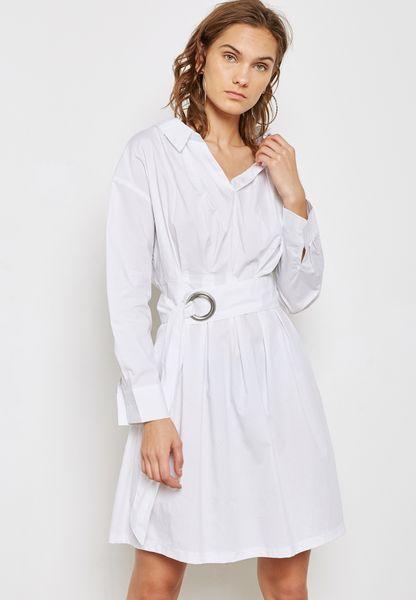 Detailed Belted Dress