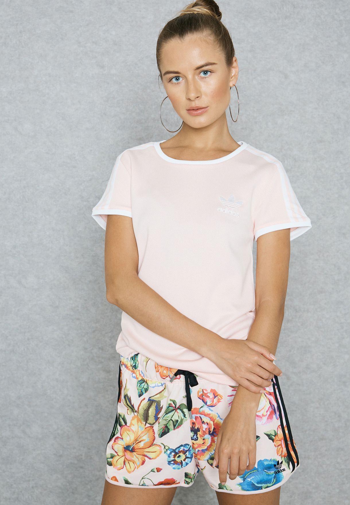 3ace71d61e6 Shop adidas Originals pink Sandra 1977 T-Shirt BP9439 for Women in ...