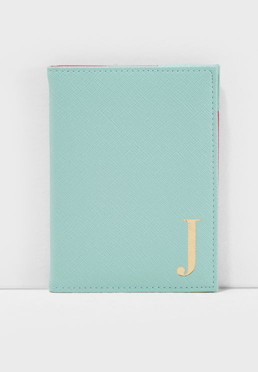J Letter Passport Cover