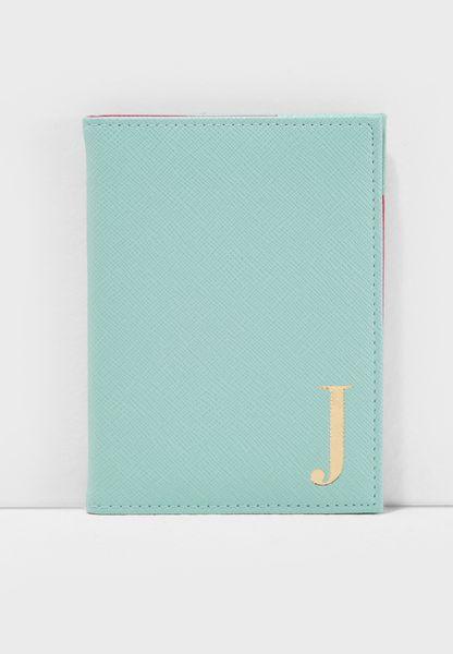 J Letter Passport Cover