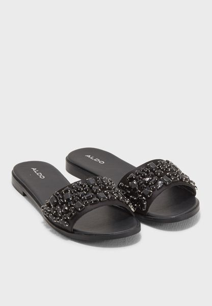 Embellished Slide Sandal