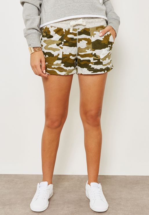 Gym Vintage Camo Shorts