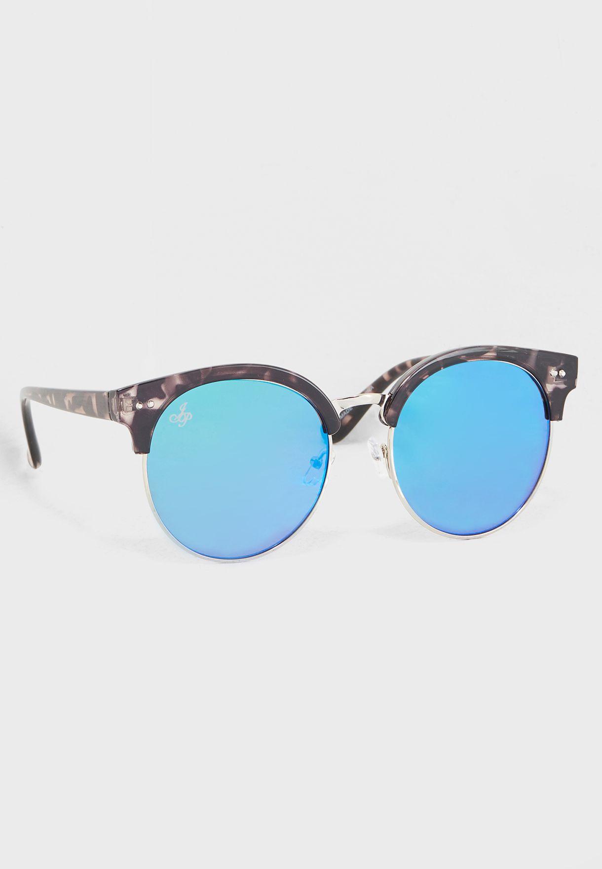 نظارات شمسية دائرية بإطار رخامي