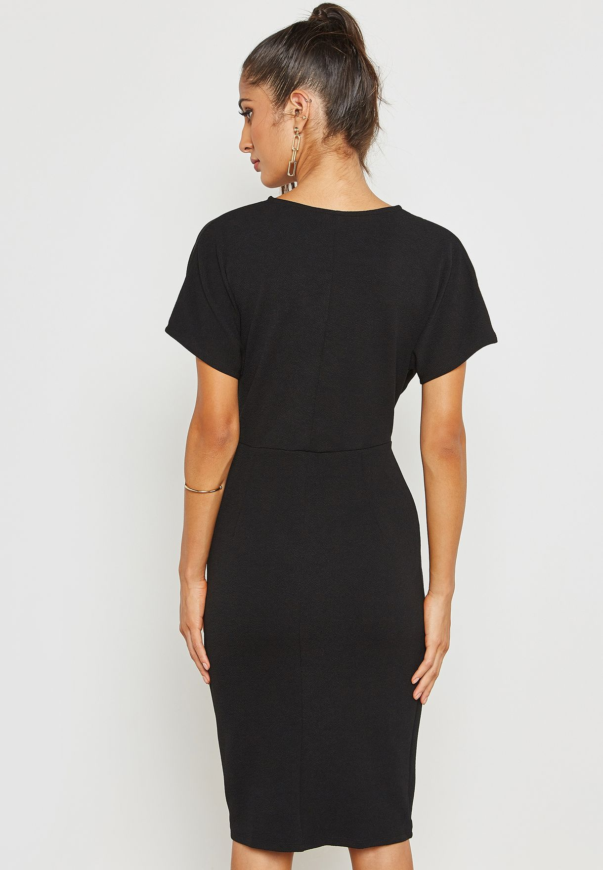 Wrap Ruched Detail Dress