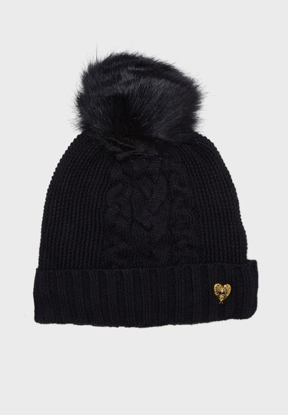 Little Large Pompom Beanie