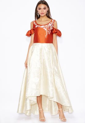 Jana Imaan Embellished Cold Shoulder Dress