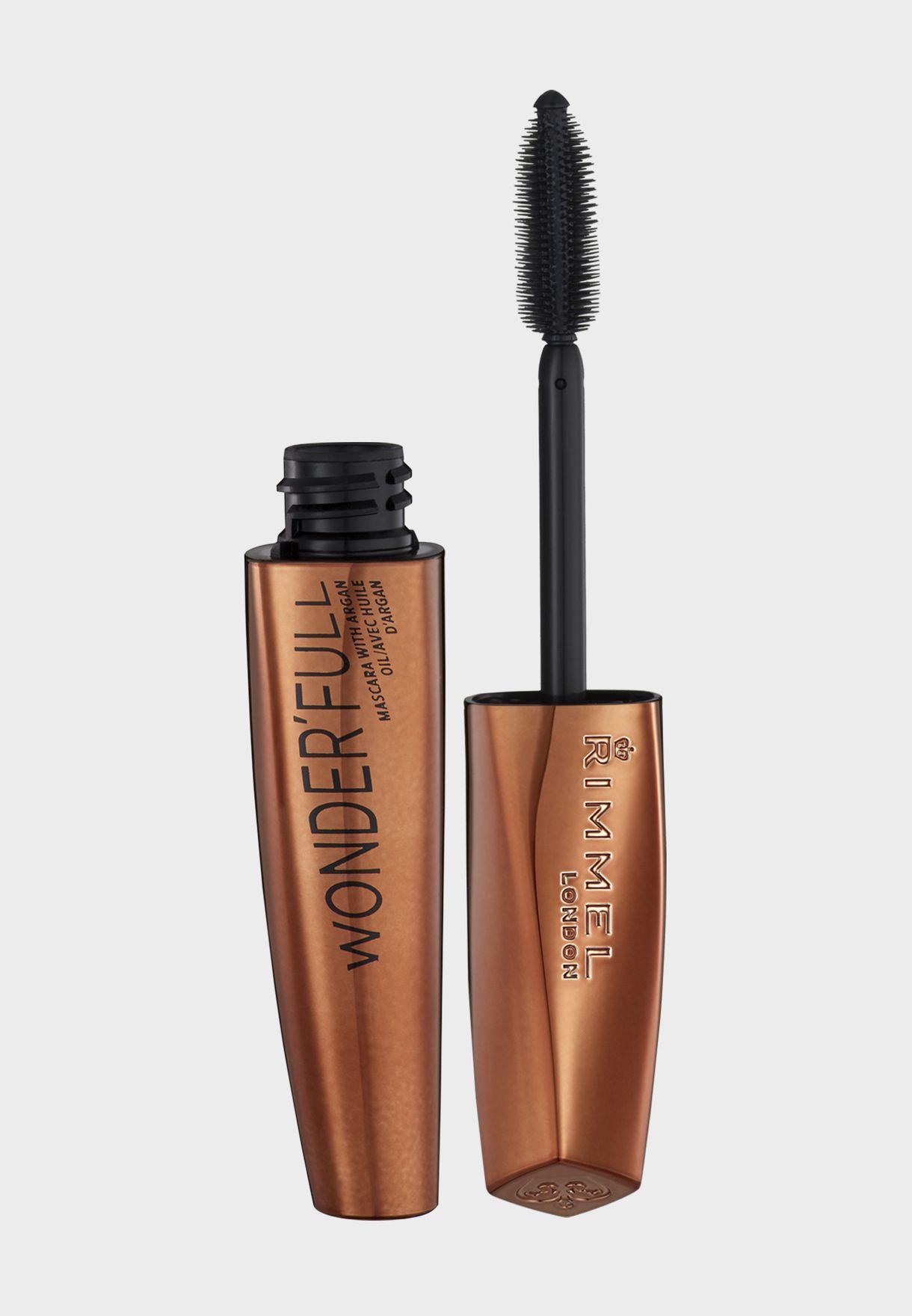 ece6df6e703 Shop Rimmel London black Wonder'full Mascara with Argan Oil ...