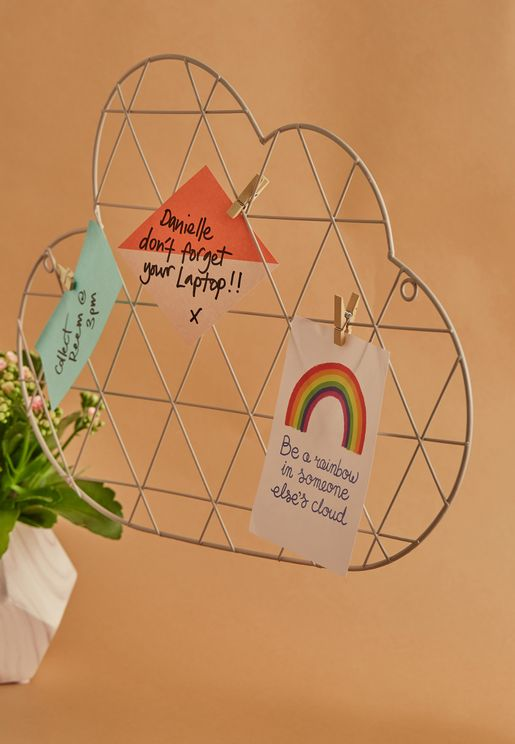 Cloud Wire Wall Grid Card Holder