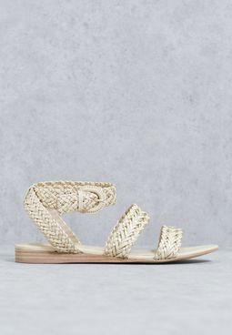 Arionna Woven Ankle Buckle Sandals