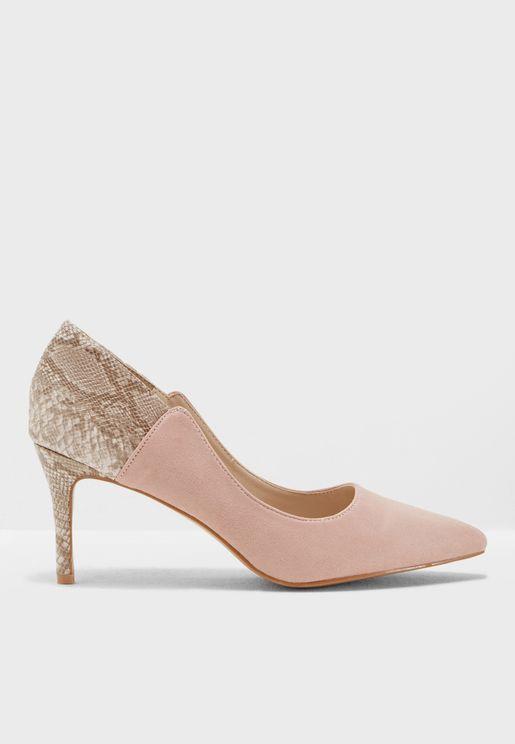 Sasha Snakeskin Court Shoes