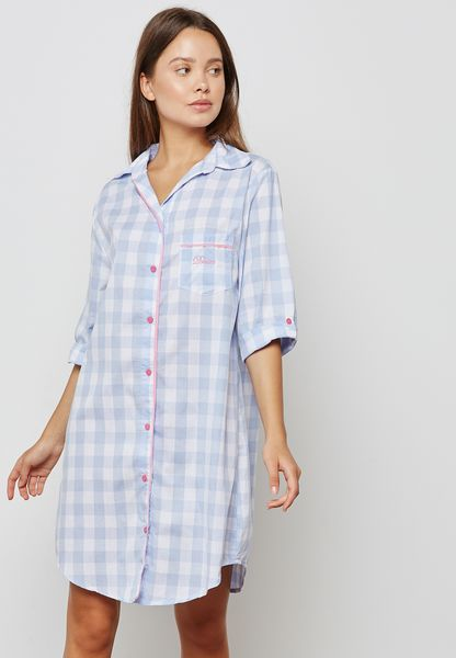 Checked Nightdress