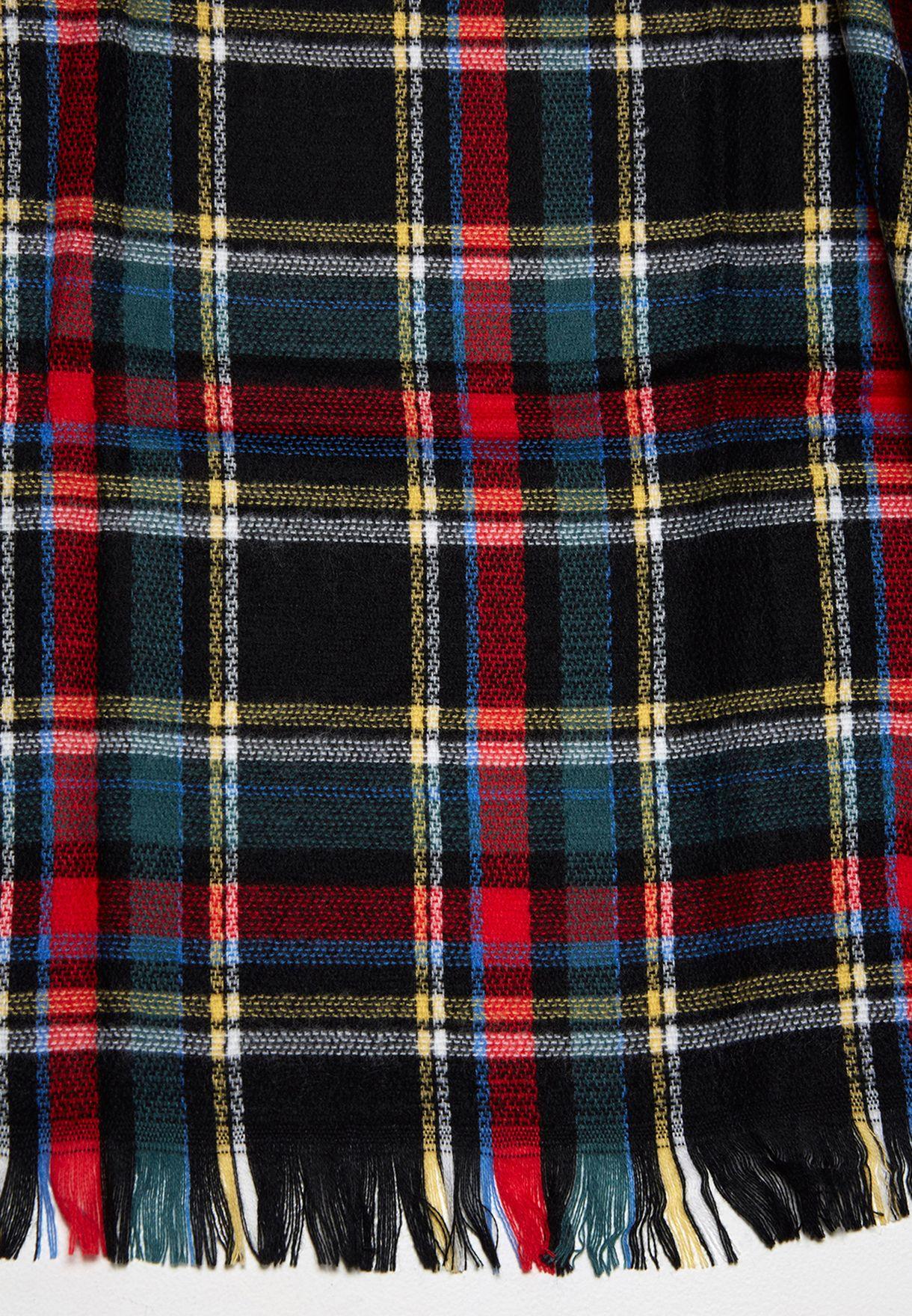 LidaWovenCheckScarf