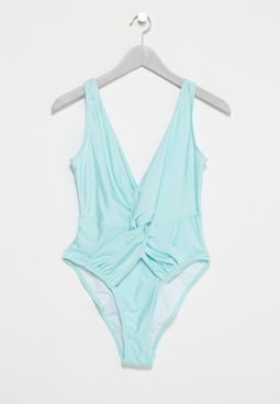 Ruched Plunge Swimsuit