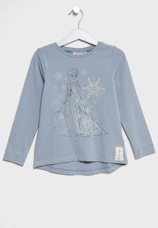 Little Elsa and Olaf T-Shirt