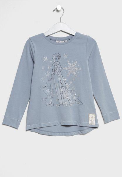 Little Elsa and Olaf T-Shirt