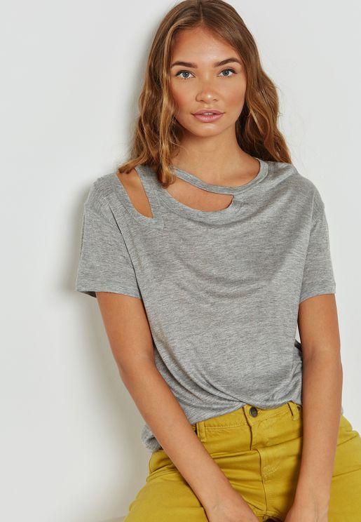 Shoulder Slit Shirt
