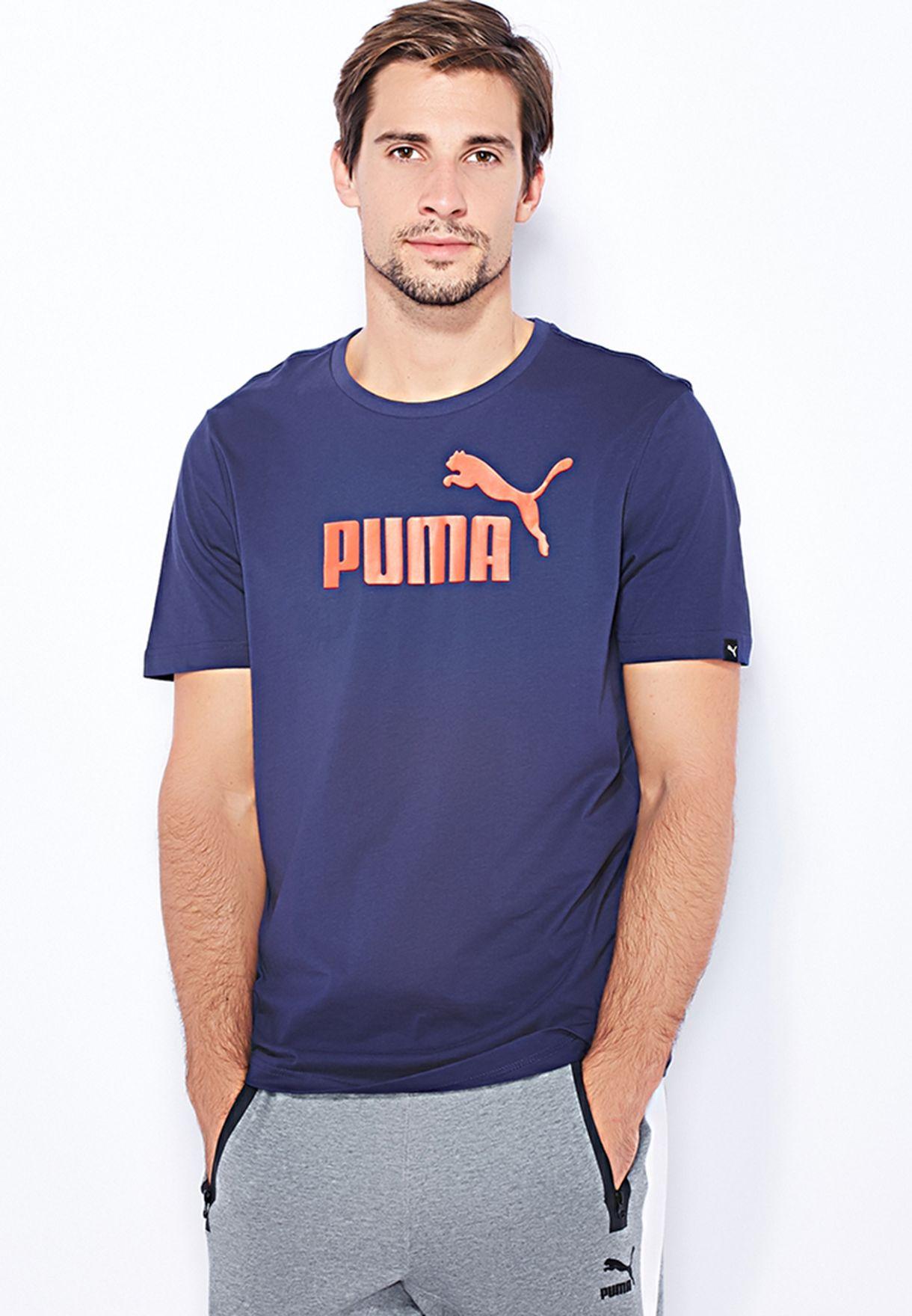 df59785c55690 Shop PUMA blue Essential No1 Logo T-Shirt 831854 06 for Men in Oman -  PU020AT63TMA