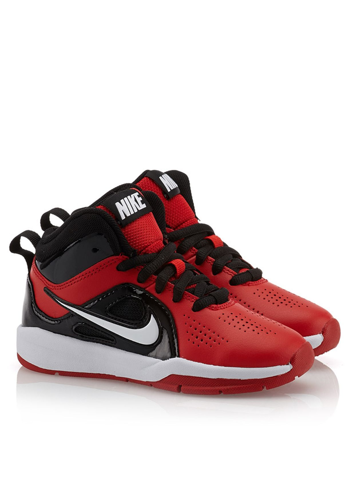 ce1ceb4d658c Shop Nike red Team Hustle D6 Sneakers 599188-600 for Kids in Qatar ...