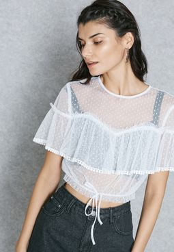 Sheer Detail Crop Top