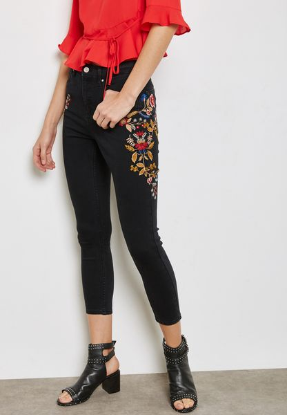 Embellished Detail Jeans