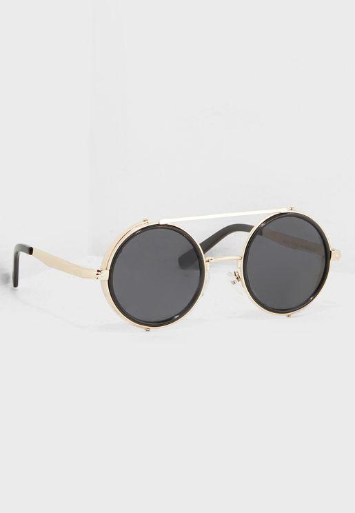 Steampunk Vintage Round Sunglasses