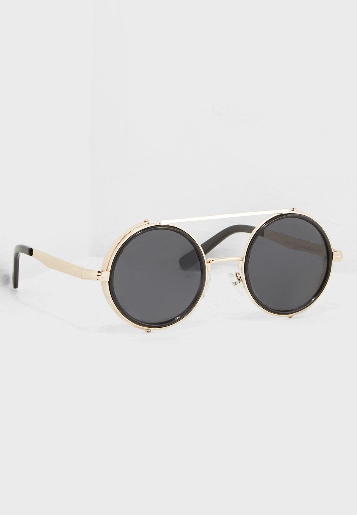 4e22e80f8a502 Shop Seventy five gold Steampunk Vintage Round Sunglasses TNS1818 ...