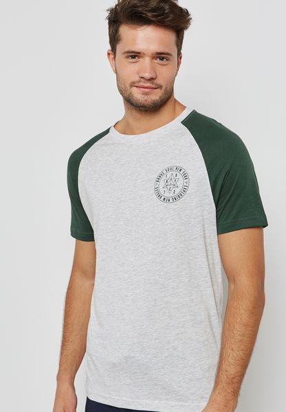Chest Print T Shirt