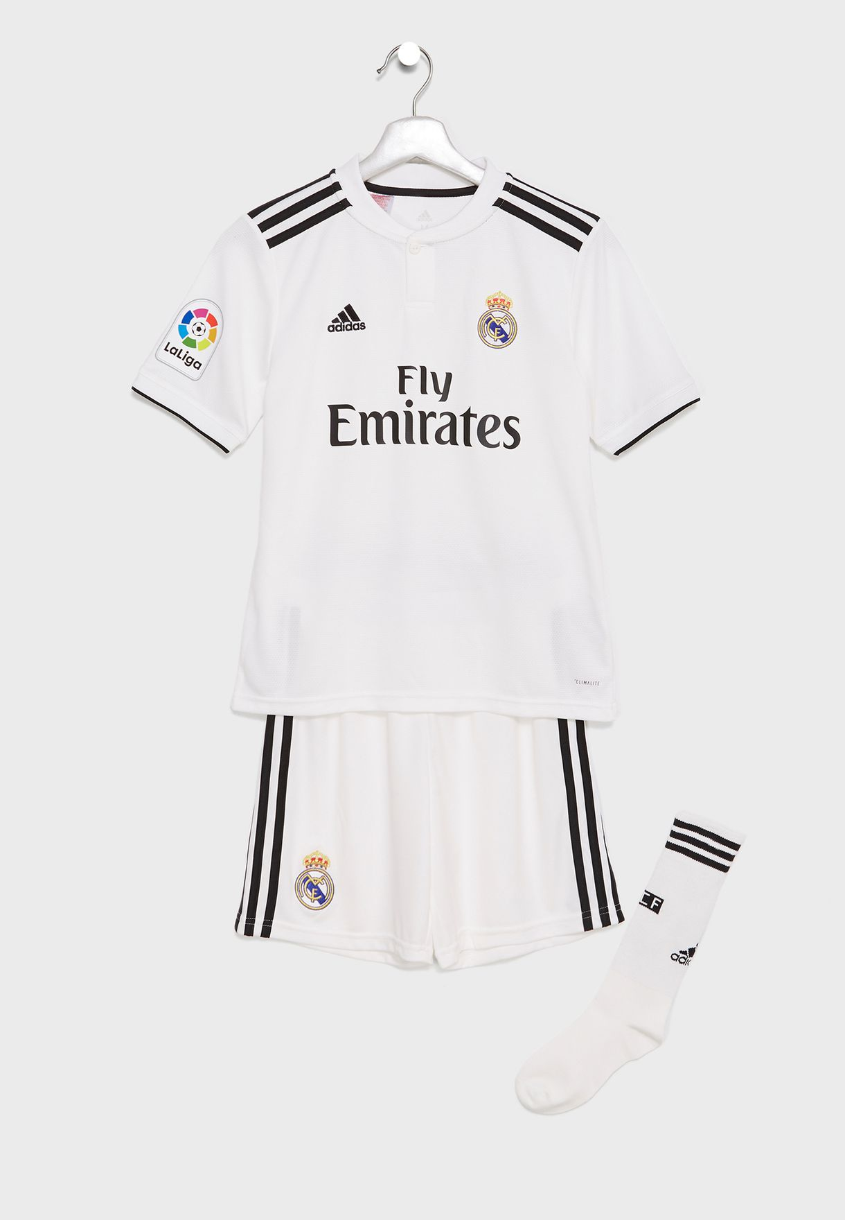 Shop adidas white Youth Real Madrid 18 19 Home Set CG0553 for Kids ... 9109835ed7c4e
