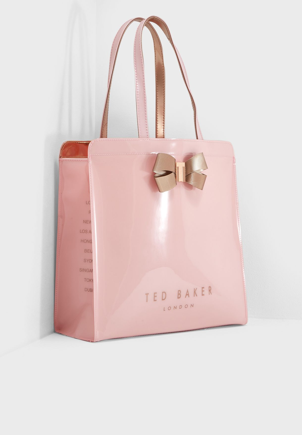 a4b35080bc3d Shop Ted baker pink Large Vallcon Bow Icon Shopper 141571 for Women ...