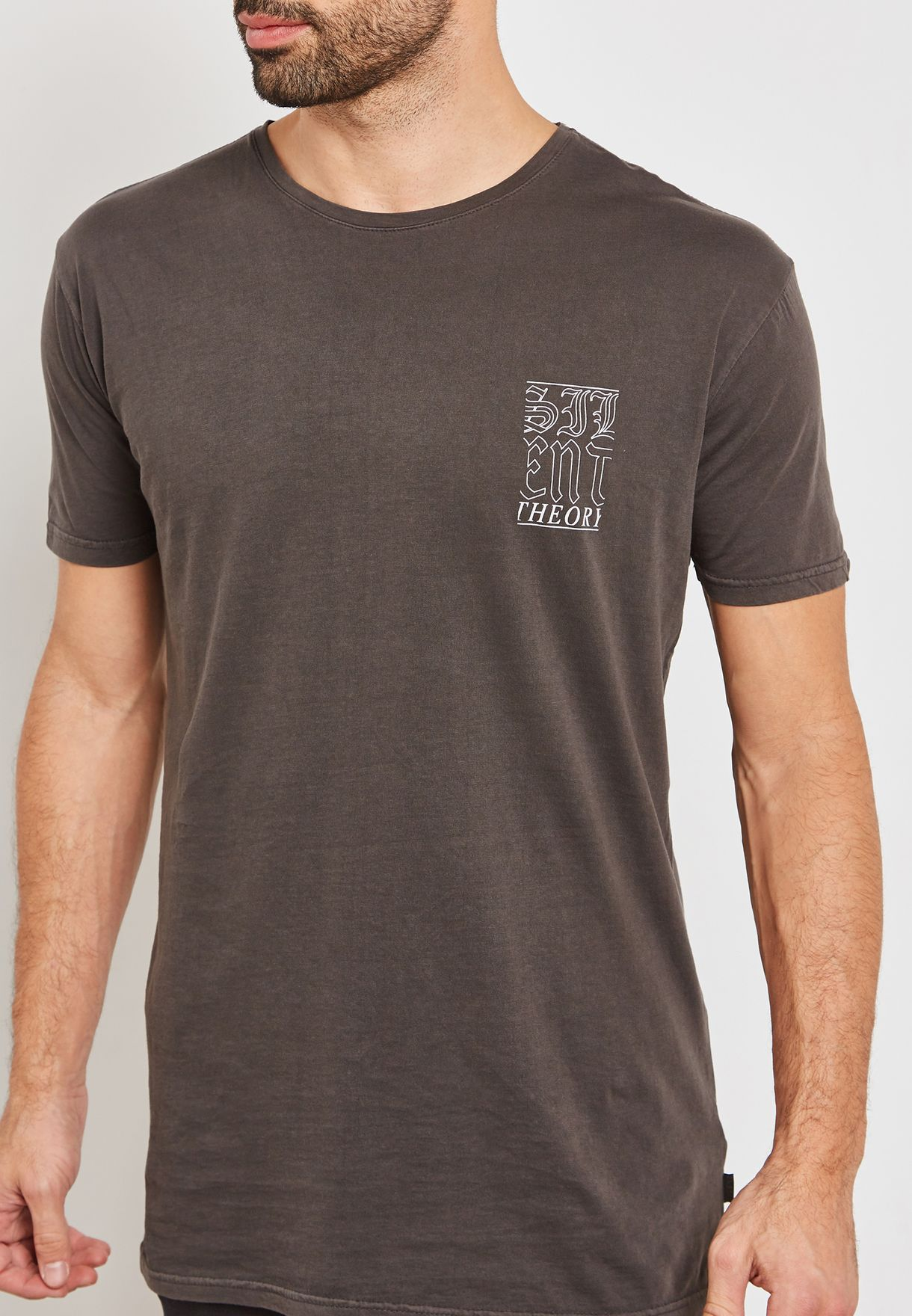 Rock Steady Back Print T-Shirt