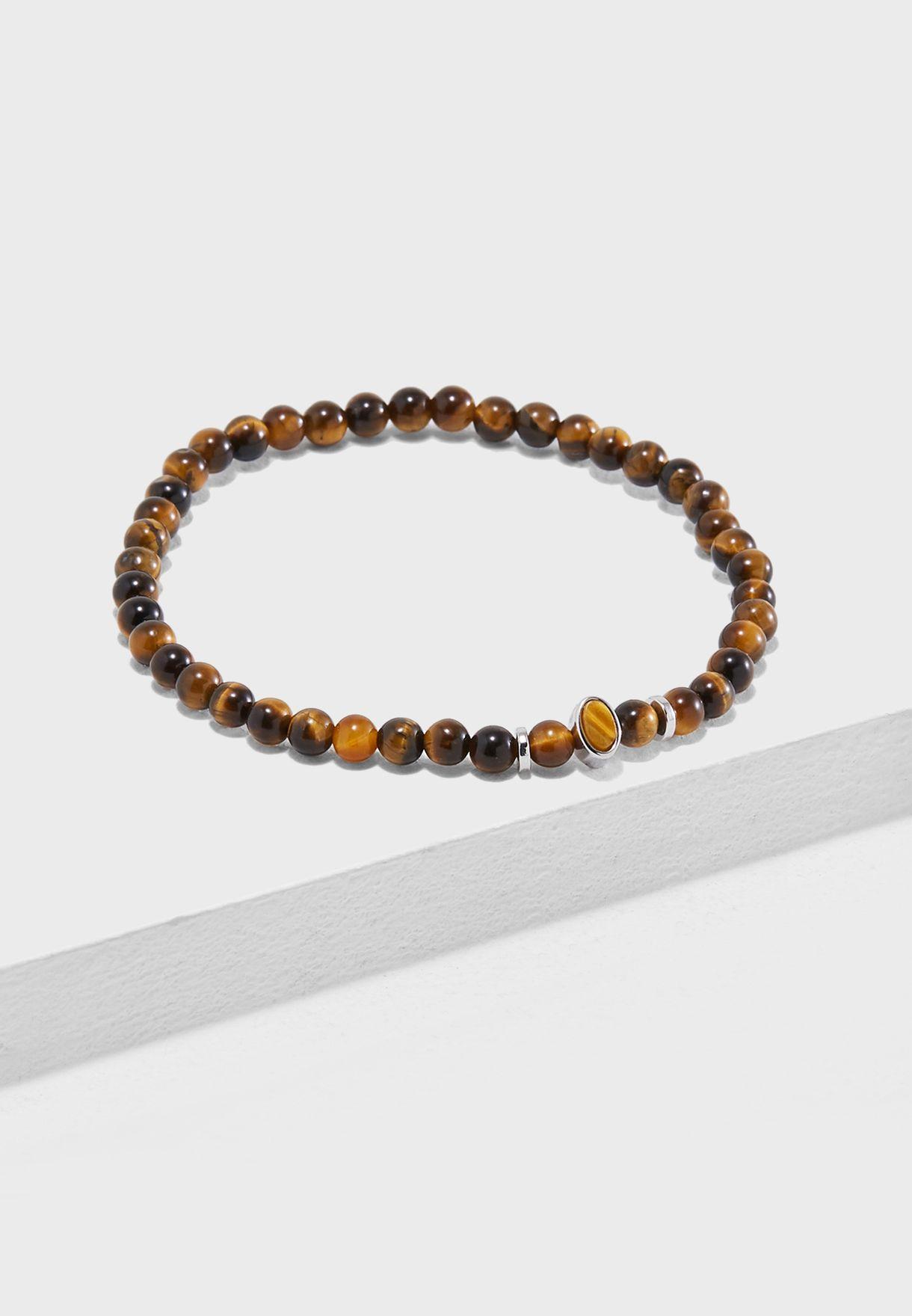 a5f648a3464 Shop Aetherston browns Tigers Eye Beaded Stone Bracelet AE059-BR-BRN for  Men in Qatar - AE267AC63CUQ