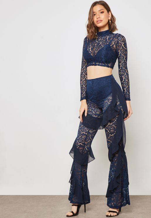 Lace Ruffled Pants