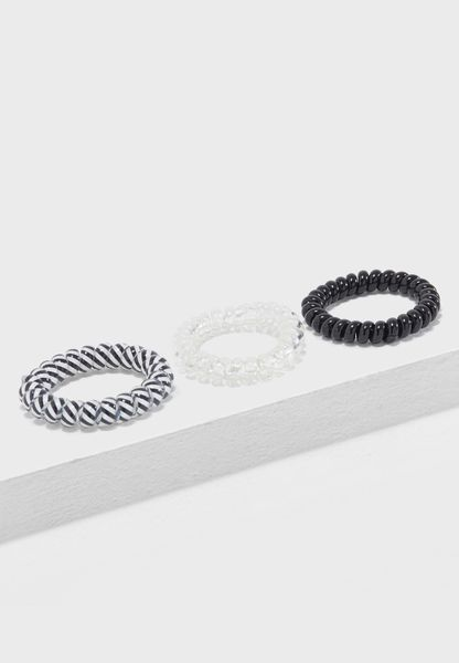 Stripe Mono Spiral Headband