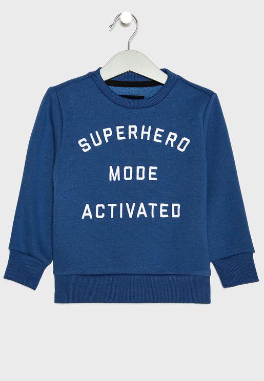 Kids Superhero Sweatshirt