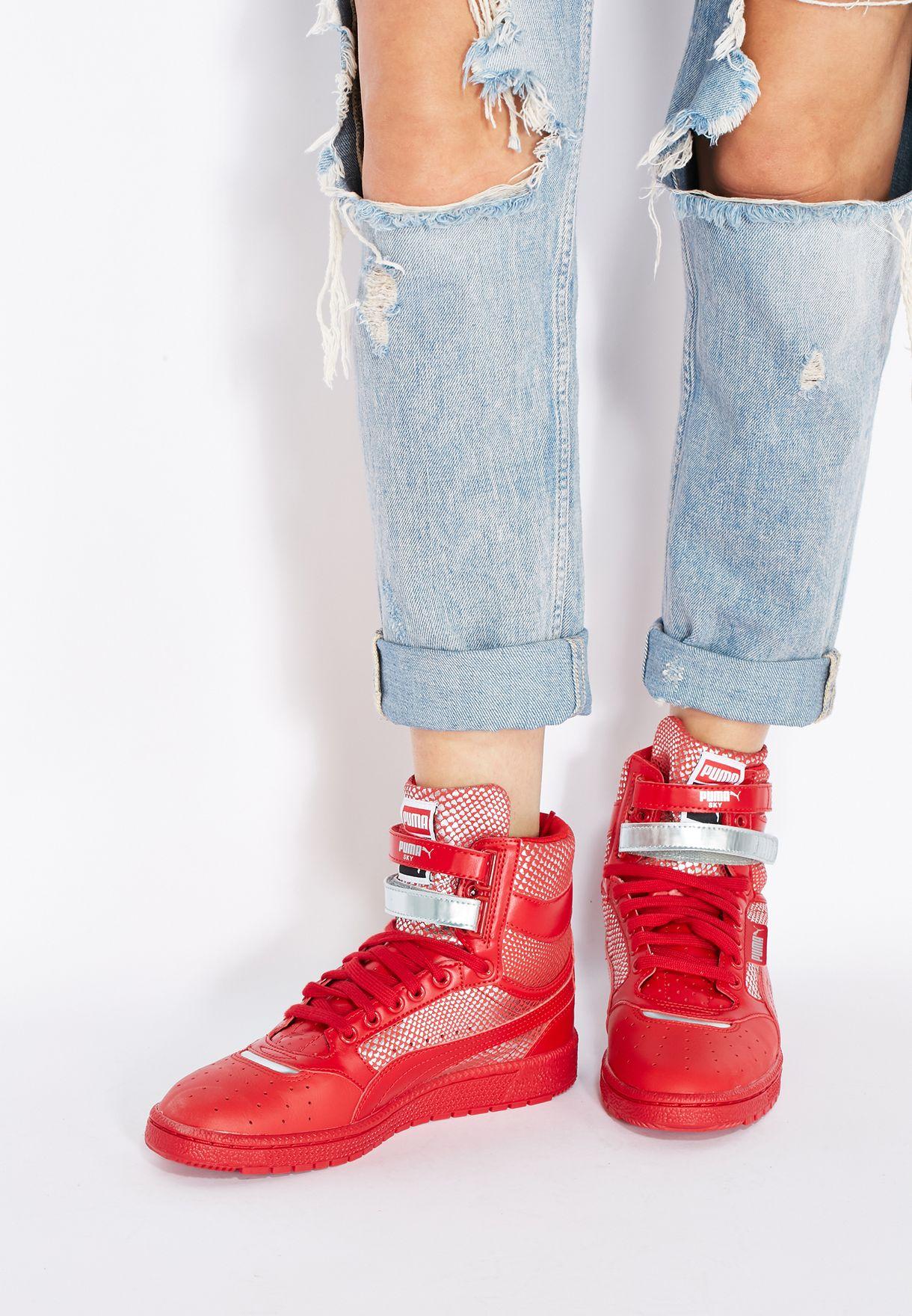 Shop PUMA red Sky II Hi Futur Minimal 36103202 for Women in ... 9ba6f503e