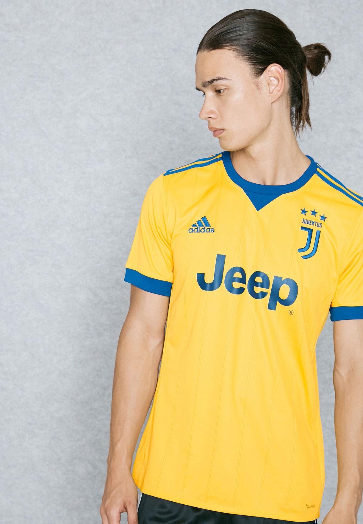 ff4d37e47 Shop adidas yellow Juventus 17 18 Away Jersey BQ4530 for Men in ...