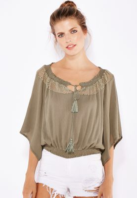 Ginger Lace Insert Gypsy Top