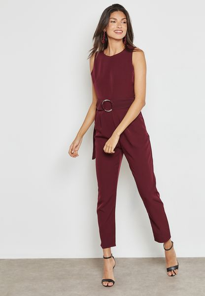 Cut Out Back D-Ring Jumpsuit