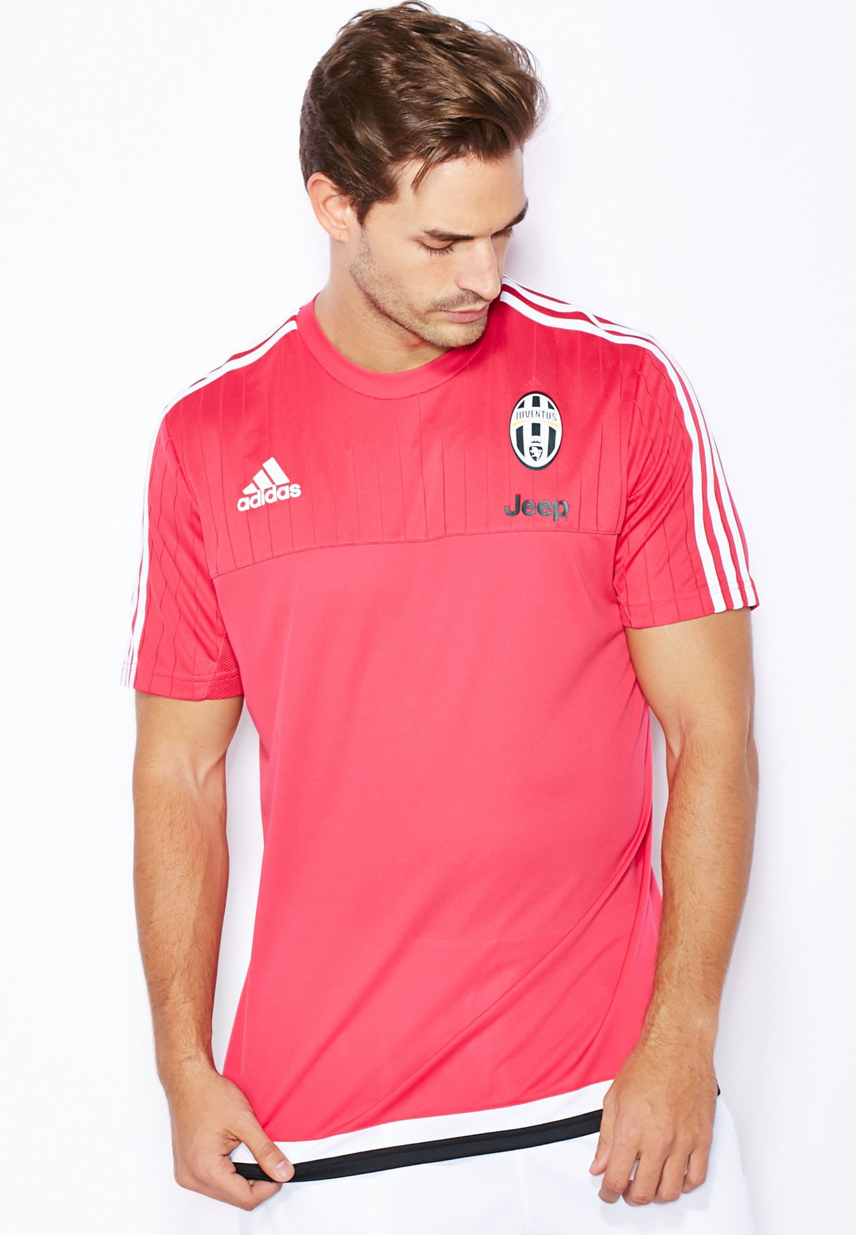 4e067a71c Shop adidas pink Juve Training Top S19397 for Men in UAE - AD476AT63PKE