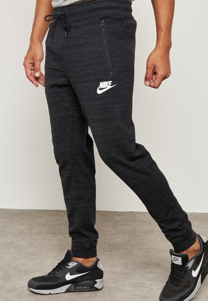 Shop Nike black AV15 Knit Joggers 918322-010 for Men in Saudi - NI727AT63HSU